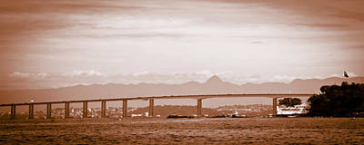 Photograph - Detail Of The Rio-niteroi Bridge by Celso Diniz