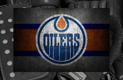 Hockey Photograph - Edmonton Oilers by Joe Hamilton