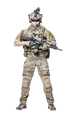 Photograph - Elite Member Of U.s. Army Rangers by Oleg Zabielin