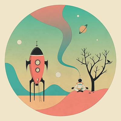 Rocketship Digital Art - Explore by Jazzberry Blue