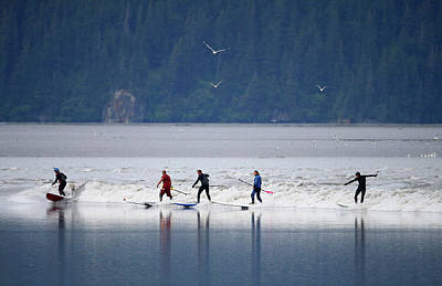 Photograph - Feature - Bore Tide Surfing In Alaska by Streeter Lecka