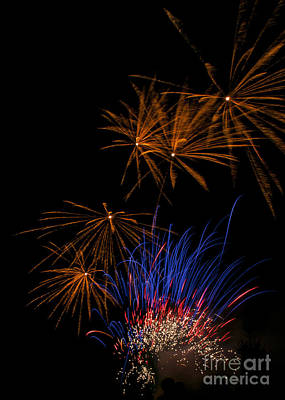 Fire Photograph - Fireworks by Mandy Judson