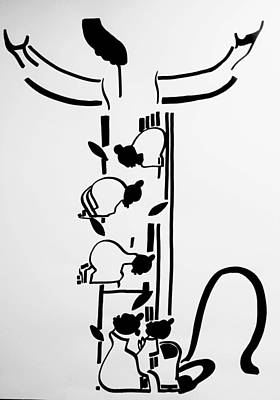 Keys To Heaven Drawing - Five Wise Virgins by Gloria Ssali