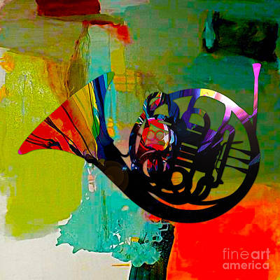 French Horn Art Print by Marvin Blaine