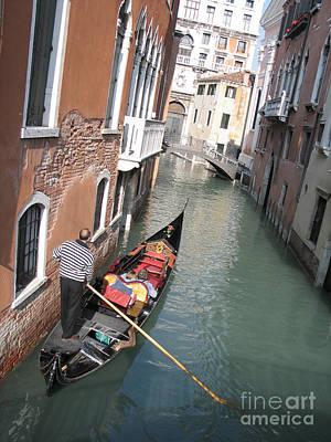Gondola. Venice Print by Bernard Jaubert