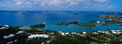 Bermuda Photograph - High Angle View Of Buildings by Panoramic Images