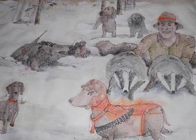 Hunting Season Comes Again Album Art Print by Debbi Saccomanno Chan