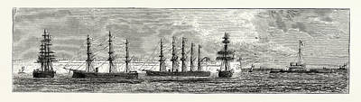 Manning Drawing - Inauguration Of The Holyhead Breakwater And Harbour by Welsh School