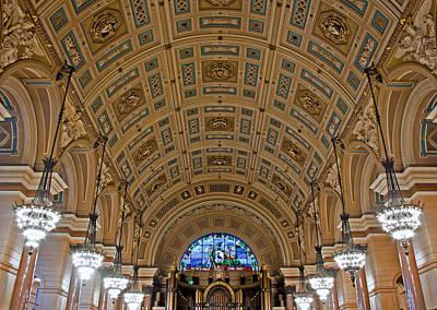 Interior Of St Georges Hall Liverpool Uk Print by Ken Biggs
