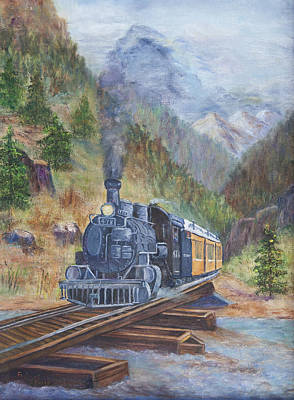 James Lewis Painting - Whistle Blow by Frances Lewis