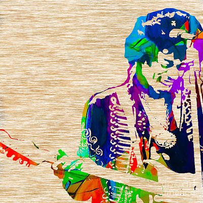 Jimi Mixed Media - Jimi Hendrix by Marvin Blaine