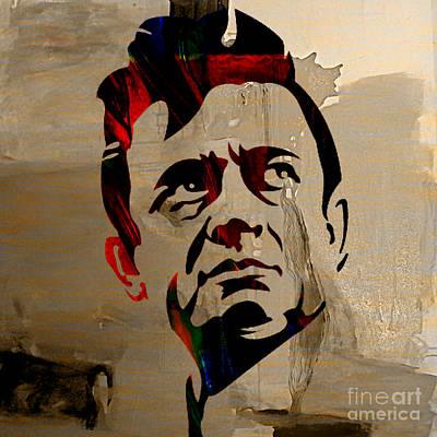 Cash Mixed Media - Johnny Cash by Marvin Blaine