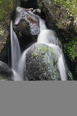 Becky Falls Photograph - Landscape Of Becky Falls Waterfall In Dartmoor National Park Eng by Matthew Gibson