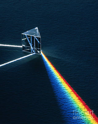 Colors Of The Rainbow Photograph - Light Passing Through Prism by David Parker