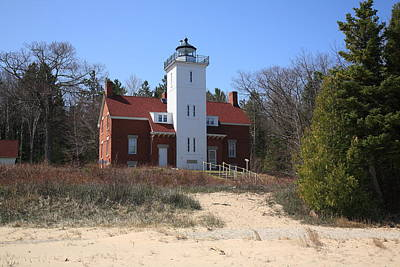 Photograph - Lighthouse - 40 Mile Point Michigan by Frank Romeo