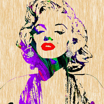 Icons Mixed Media - Marilyn Monroe Diamond Earring Collection by Marvin Blaine