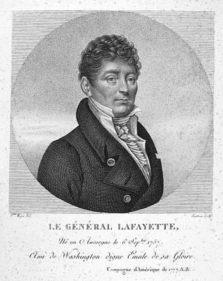 Lapel Painting - Marquis De Lafayette (1757-1834) by Granger
