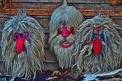 Transylvania Digital Art - Masks. Next To Bran Castle - Dracula's Castle. by Andy Za