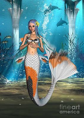 Digital Art - Mermaid by Design Windmill