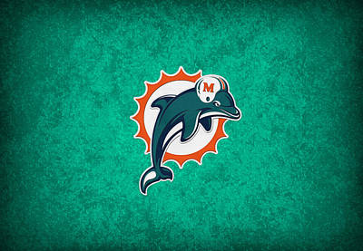 Dolphin Wall Art - Photograph - Miami Dolphins by Joe Hamilton