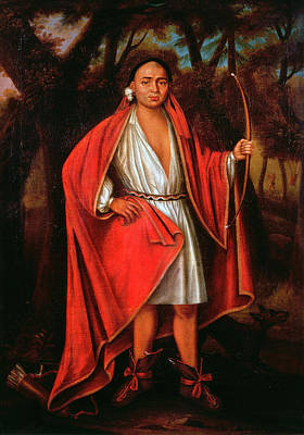 Mohawk Painting - Mohawk Chief, 1710 by Granger