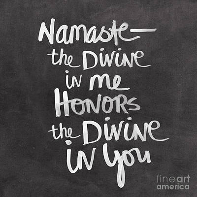 Calligraphy Painting - Namaste by Linda Woods