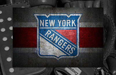 Card Photograph - New York Rangers by Joe Hamilton