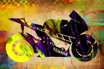Ninja Motorcycle Art Print