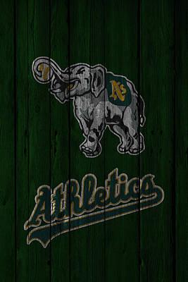 Oakland Athletics Art Print by Joe Hamilton
