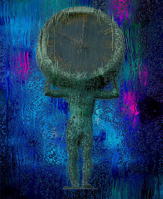 Captured Rain Painting - 10 O'clock On The Head by Jack Zulli