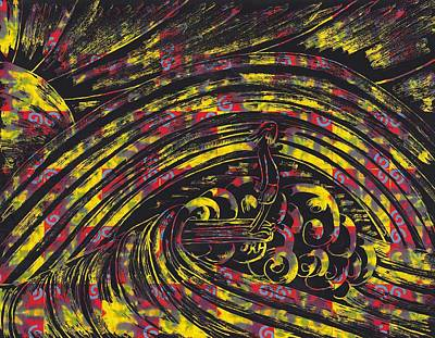 Surfing Art Drawing - 10 Over by Jason Honeycutt