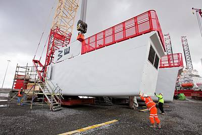 Energy Work Photograph - Parts For The Walney Offshore Wind Farm by Ashley Cooper