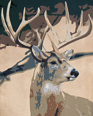 Painting - 10 Point Buck by Slade Roberts