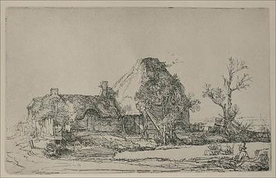 Rembrandt Cottege Print Art Print by Rembrandt
