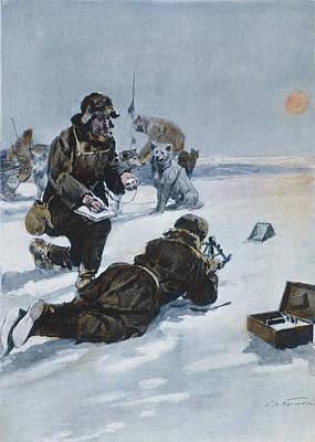Pole Drawing - Roald Amundsen (1872-1928) by Granger