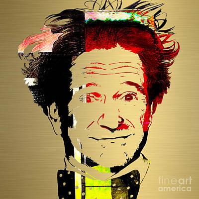Mixed Media - Robin Williams Art by Marvin Blaine