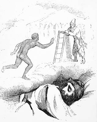 Rear View Drawing - Robinson Crusoe by Granger