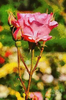 Painting - Rose by George Atsametakis