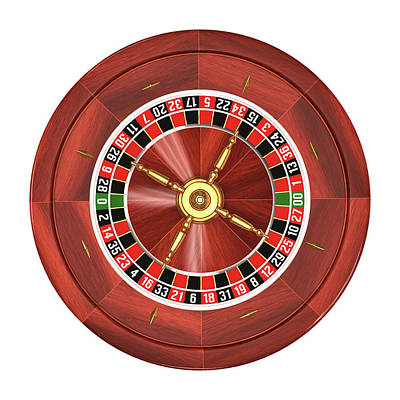 Number Circle Photograph - Roulette Wheel by Ktsdesign