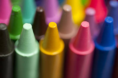 Balance In Life Photograph - Rows Of Multicolored Crayons  by Jim Corwin