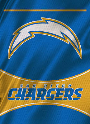 Team Photograph - San Diego Chargers Uniform by Joe Hamilton