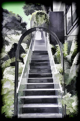 Staircase Leading To A Higher Level In Siloso Hotel In Sentosa Art Print