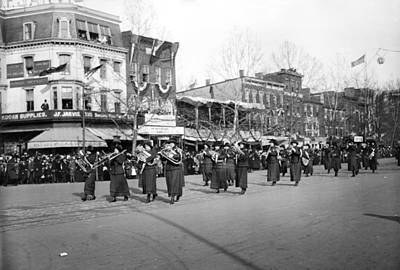 Marching Band Photograph - Suffrage Parade, 1913 by Granger