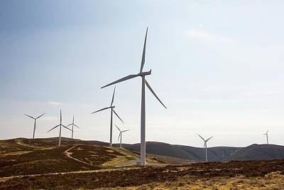 The Clyde Windfarm Art Print