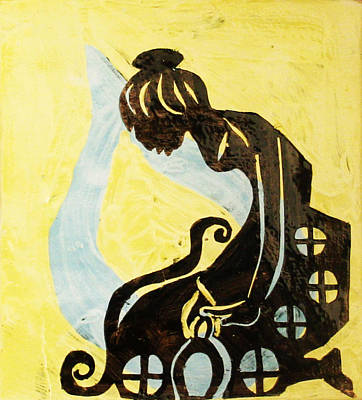 African Ceramics Painting - The Wise Virgin by Gloria Ssali