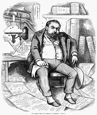 Sweating Painting - Thomas Nast (1840-1902) by Granger