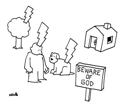 Beware Of God Art Print by Ariel Molvig