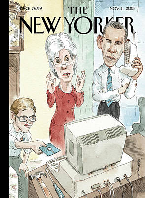 2013 Painting - New Yorker November 11th, 2013 by Barry Blitt