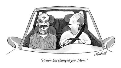 Marshall Hopkins Drawing - Prison Has Changed by Marshall Hopkins