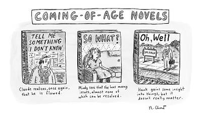 Aging Drawing - New Yorker June 11th, 2007 by Roz Chast